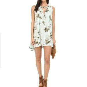 Free People Tree Swing Floral Mint Dress XS